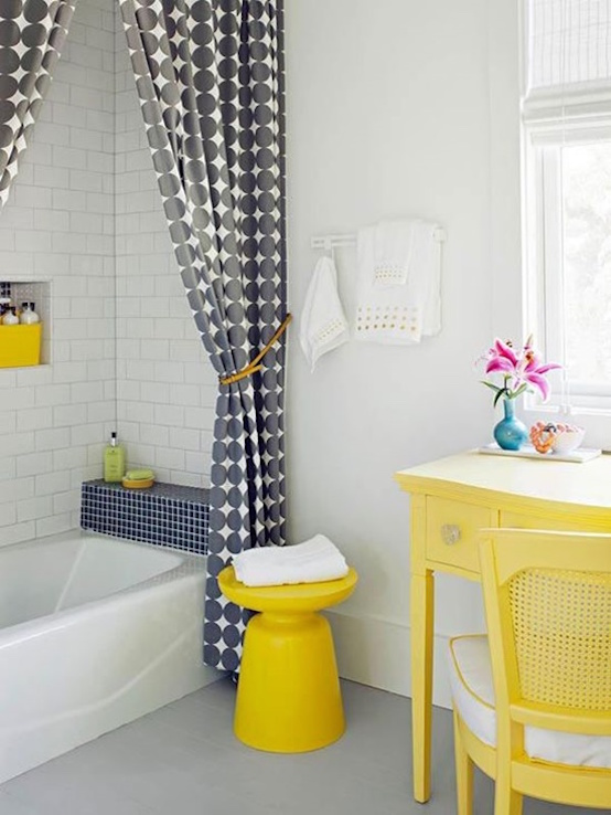 spring bathroom yellow colours