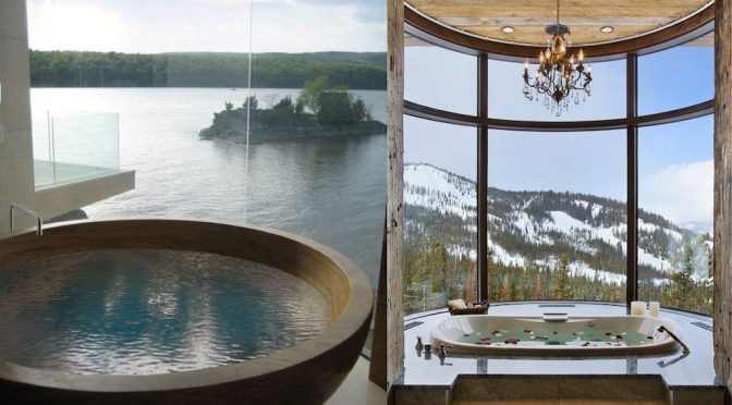 35 Stunning Bathroom Designs With A View