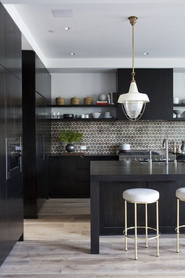 Cool Black Kitchen