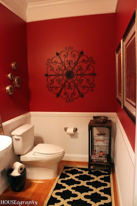 black and red bathroom idea