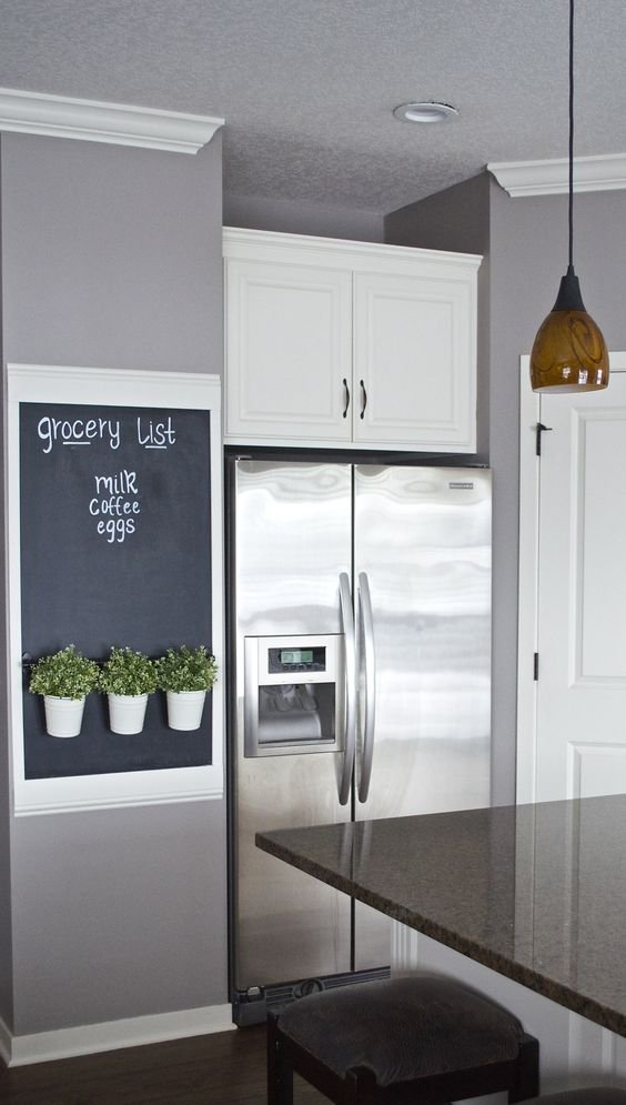 chalkboard paint kitchen wall