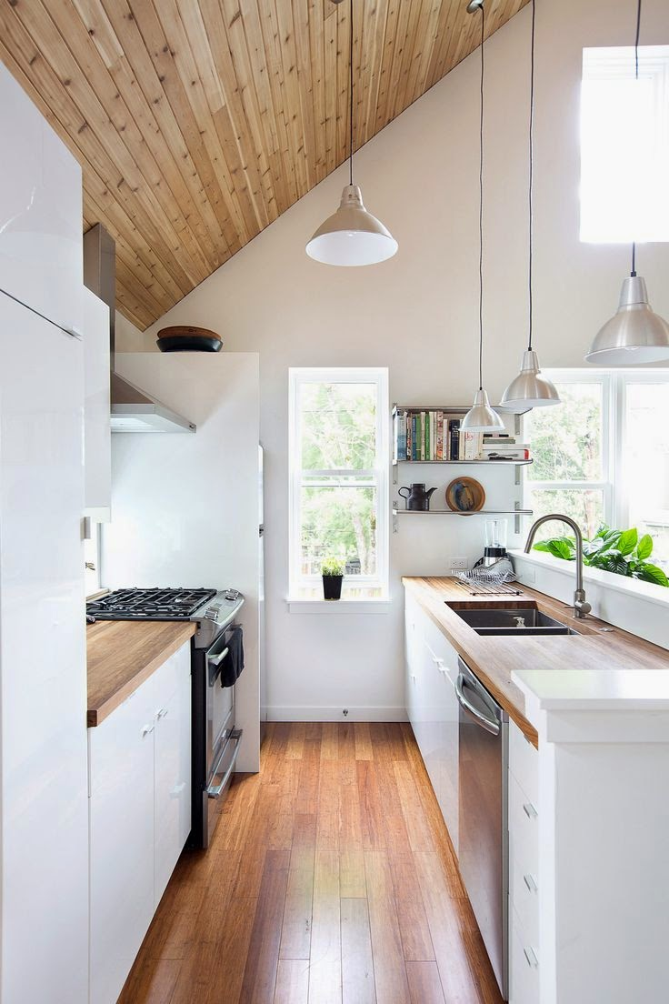 kitchen white and wood